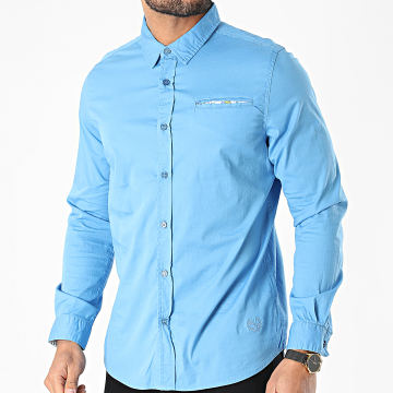 American People - Chemise Manches Longues Campton Bleu