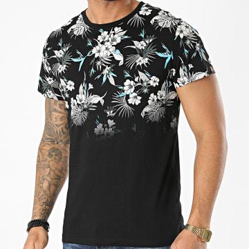 American People - Tee Shirt Tood Noir Floral
