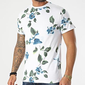 American People - Tee Shirt Tamiz Blanc Floral
