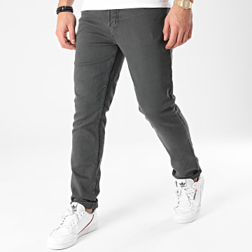 American People - Pantalon Jogg Jean Molls Gris Anthracite