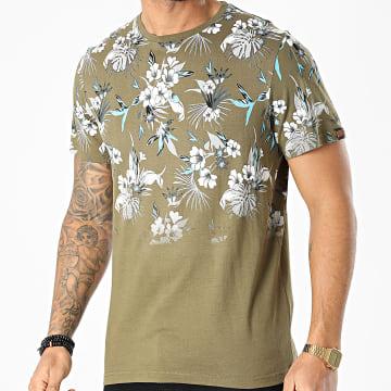 American People - Tee Shirt Tood Vert Kaki Floral
