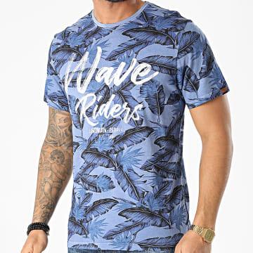 American People - Tee Shirt Tenef Bleu Marine Floral