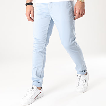 American People - Pantalon Chino Motor Bleu Ciel