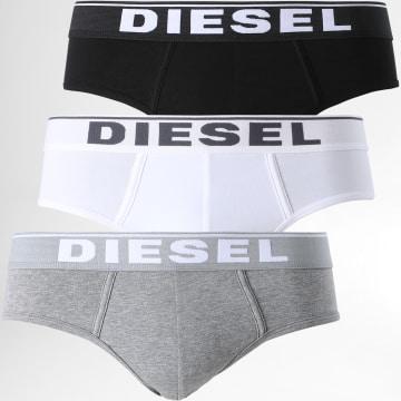 Diesel - Lot De 3 Slips Andre 00SH05-0JKKB Noir Blanc Gris