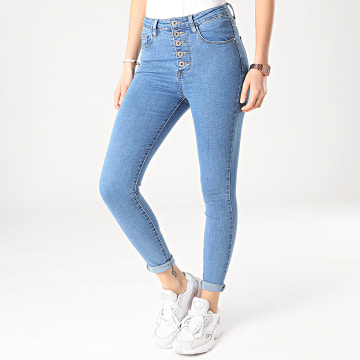 Girls Outfit - Jean Skinny Femme DZ359-25 Bleu Denim
