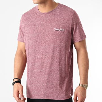 Jack And Jones - Tee Shirt Tons 12186758 Bordeaux Chiné