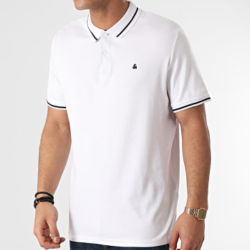 Jack And Jones - Polo Manches Courtes Jersey 12180891 Blanc