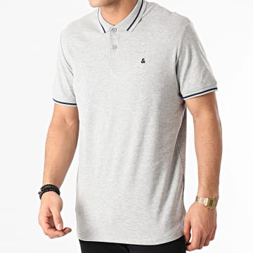 Jack And Jones - Polo Manches Courtes Jersey 12180891 Gris Chiné