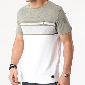 MZ72 - Tee Shirt Trickle Vert Kaki Blanc
