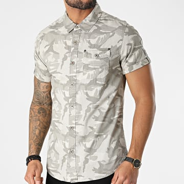 MZ72 - Chemise Manches Courtes Carlito Camouflage Beige