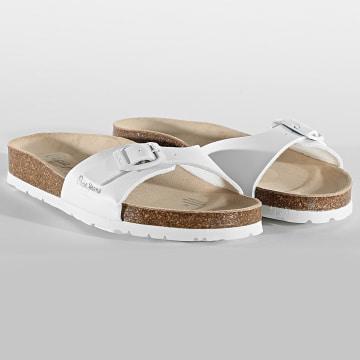 Pepe Jeans - Sandales Femme Oban Basic PLS90525 Blanc