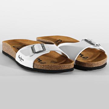 Pepe Jeans - Sandales Bio Basic PMS90082 Blanc