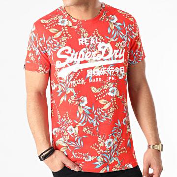 Superdry - Tee Shirt All Over Print Orange Floral