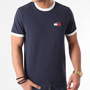Tommy Jeans - Tee Shirt Badge Ringer 0280 Bleu Marine