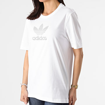 Adidas Originals - Tee Shirt Femme Rhinestone GN3647 Blanc