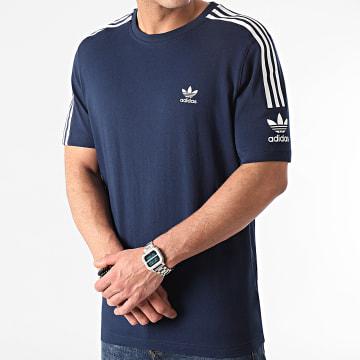 Adidas Originals - Tee Shirt A Bandes Tech ED6117 Bleu Marine