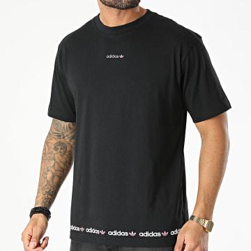 adidas - Tee Shirt Linear Repeat GN7126 Noir