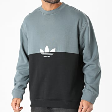 Adidas Originals - Sweat Crewneck Slice Trefoil GN3439 Gris Noir