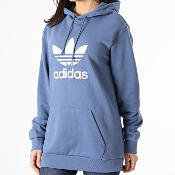 Adidas Originals - Sweat Capuche Femme Trefoil GN3460 Bleu