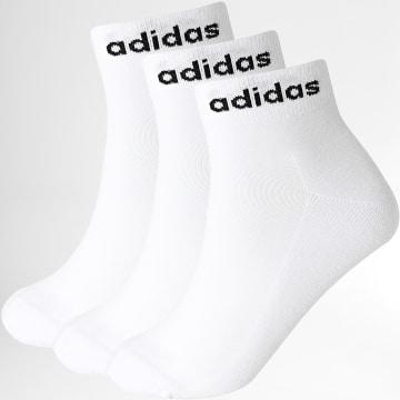 adidas - Lot De 3 Paires De Chaussettes Ankle GE1381 Blanc