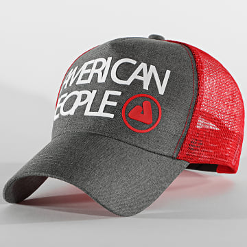 American People - Casquette Trucker Tage Gris