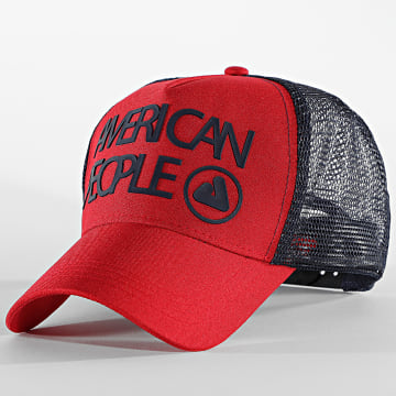 American People - Casquette Trucker Tage Rouge