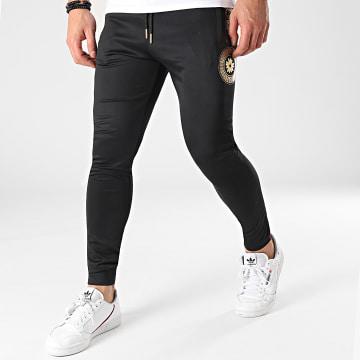 Gianni Kavanagh - Pantalon Jogging GKM001612 Noir Doré