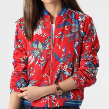 Girls Outfit - Veste Zippée Femme Floral Bing Rouge