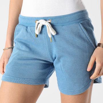 Girls Outfit - Short Jogging Femme Saco Bleu Ciel