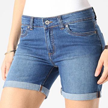 Girls Outfit - Short Jean Femme Swing Bleu Denim