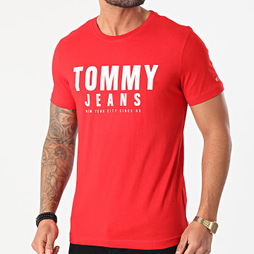 Tommy Jeans - Tee Shirt Center Chest Graphic 0243 Rouge