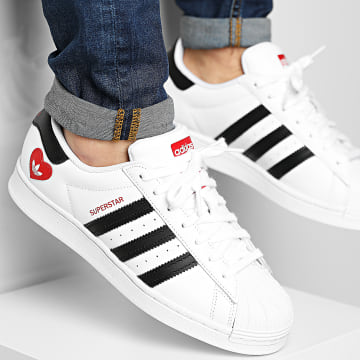 Adidas Originals - Baskets Superstar FZ1807 Footwear White Core Black Scarlet