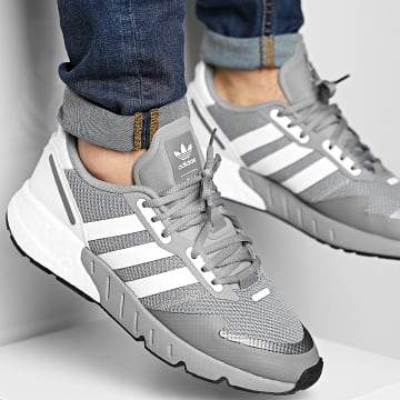 Adidas Originals - Baskets ZX 1K Boost H68718 Grey Three Footwear White Core Black