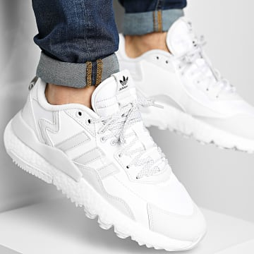 Adidas Originals - Baskets Nite Jogger Winterized FZ3660 Crystal White Footwear White Core Black