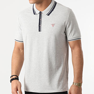 Guess - Polo Manches Courtes M1RP60-K7O61 Gris Chiné
