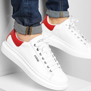 Guess - Baskets FM5SLRLEA12 White Red
