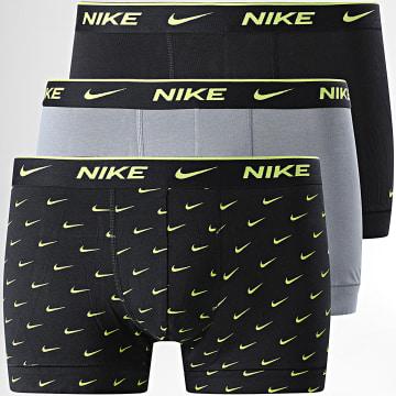 Nike - Lot De 3 Boxers Everyday Cotton Stretch KE1008 Noir Gris