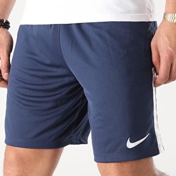 Nike - Short Jogging Knit League II Bleu Marine