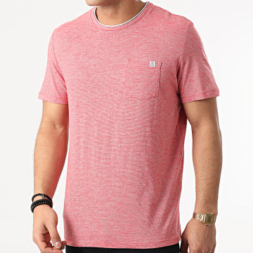 Tom Tailor - Tee Shirt Poche A Rayures 1021232-XX-10 Rouge