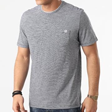 Tom Tailor - Tee Shirt Poche A Rayures 1021232-XX-10 Bleu Marine