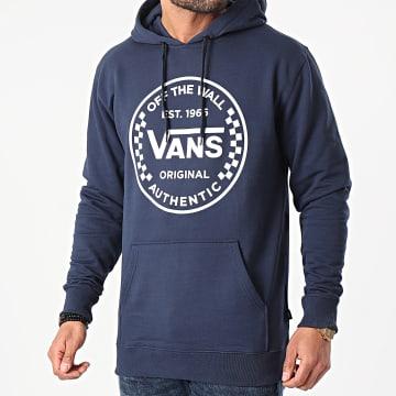 Vans - Sweat Capuche Authentic Checker PO A5DYT Bleu Marine