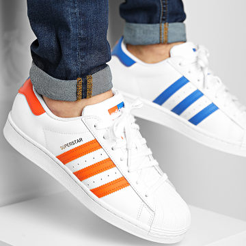 Adidas Originals - Baskets Superstar FX5526 Footwear White Blue Gold Metallic