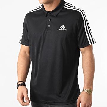 Adidas Performance - Polo Manches Courtes A Bandes 3 Stripes GM2075 Noir