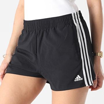 Adidas Performance - Short Jogging Femme A Bandes 3 Stripes GL3981 Noir