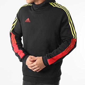 Adidas Performance - Sweat Capuche A Bandes Tiro GN5551 Noir