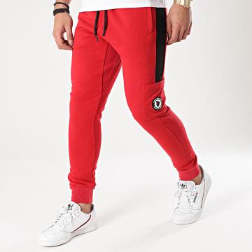 Comme Des Loups - Pantalon Jogging A Bandes Manhattan Rouge
