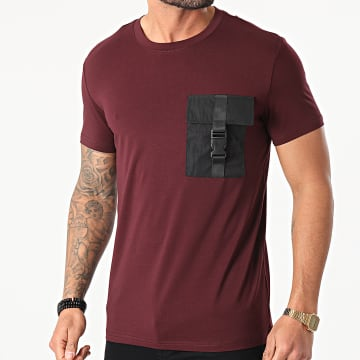 Frilivin - Tee Shirt Poche BM1226 Bordeaux