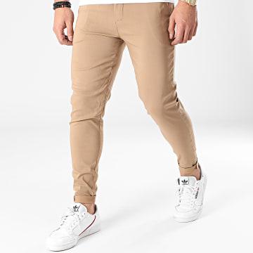Frilivin - Pantalon Chino Skinny 1882 Camel