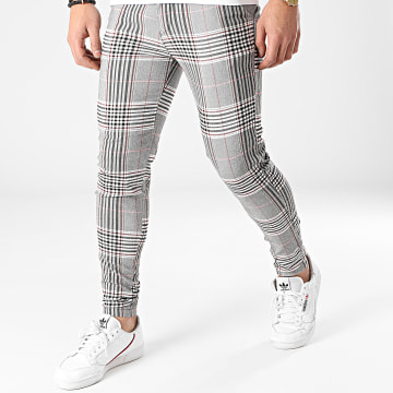 Frilivin - Pantalon A Carreaux 1887 Gris Rouge