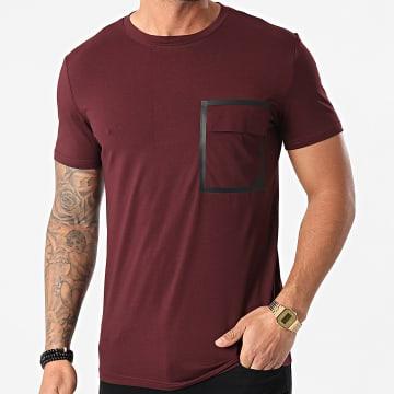 Frilivin - Tee Shirt Poche BM1223 Bordeaux